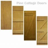 Internal Pine Door - Scandanavian Pine - Cottage Door - Ledged - Made to Measure